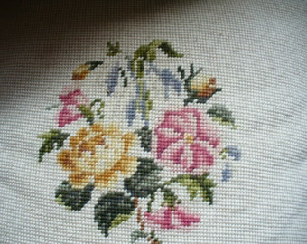 Hand Made Vintage Needlepoint Pillow