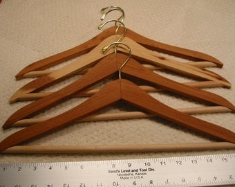 Vintage Cedar Hangers . . .  lot of four (4) . . . from  the 1980's . . .  excellent condition