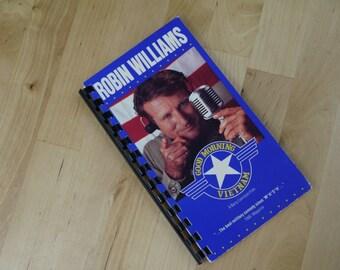 Handmade Good Morning Vietnam 1987 Re-purposed VHS Cover Notebook Journal