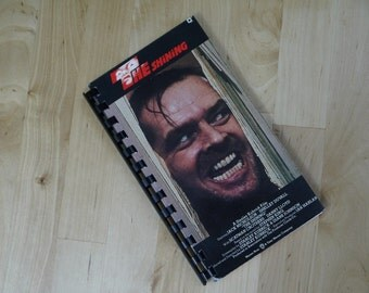 Handmade The Shining 1980 Movie Re-purposed VHS Cover Notebook Journal