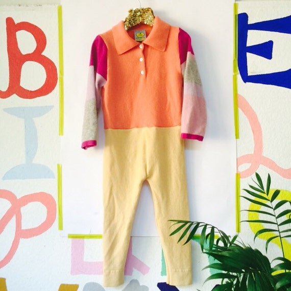 SLEEP 5-6 Years Kids Cashmere Toddler Playsuit Romper Dungarees Pants Overalls Onesie Upcycled Unisex