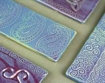 Ceramic Purple Incense Burner, Handcrafted Stick Incense, Pottery Incense Burner, Purple Glaze