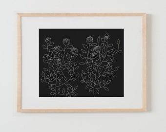 Fine Art Print.  Roses. November 18, 2015.
