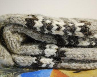 Hand KNITTED WOOL SOCKS - 100% Wool