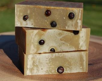 40% Soap Sale, Juniper Berry Soap, Handcrafted Small Batch Cold Process Soap Formula