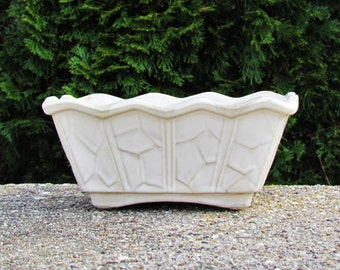 Vintage McCoy planter, off white McCoy dish garden, rectangular plant pot, c. 1967 McCoy pottery
