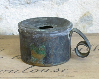 French ink well vintage portable ink holder desk accessory
