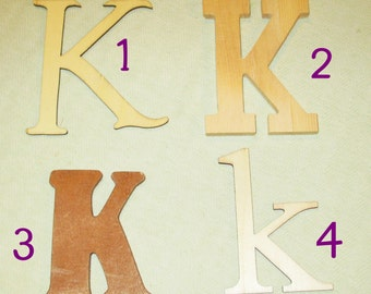 Large Wooden Letter - K - Personalize It