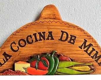 Spanish Sombrero Personalized Wall Plaque