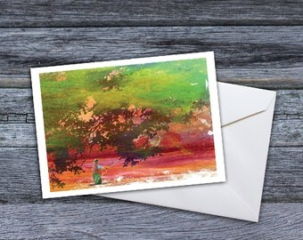 Fly Fishing  - Sunrise on the River Greeting Card