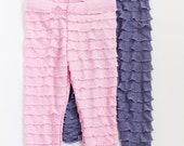 SALE Pink and Lavender Set Ruffle Leggings Size 5 Ready to Ship