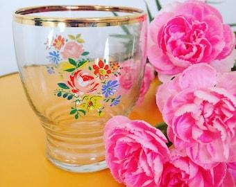 Vintage Floral Glass