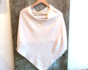 Shawl in natural white, natural bride, bridal shawl, merino wool, Cape/ Poncho, gift for her, stole/ wrap made from recycled wool