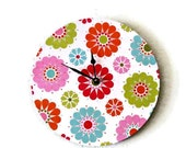 SALE, Unique Wall Clock,  Home Decor, Home and Living, Decor and Housewares, Colorful Wall Clock, Retro Wall Clock