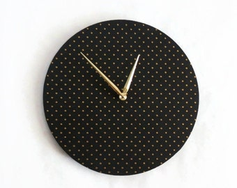 Modern Wall Clock, Minimalist Clock, Black and Gold Clock,  Home and Living, Home Decor, Decor and Housewares, Unique Wall Clock