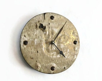 Sale, Birch Wall Clock, Home and Living, Home Decor, Clocks, Real Birch Decor, Rustic Wall Clock