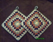 Hand Crochet Granny Square Potholders