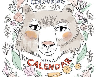 DIY Colouring Calendar