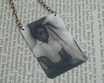 James Baldwin necklace African American history  mixed media jewelry