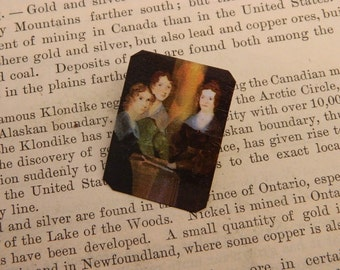 Bronte Sisters Brooch  Literature gift Feminist brooch