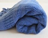 Turkish Towel Peshtemal towel Cotton Peshtemal Stone washed wicker striped Blue Towel pure soft