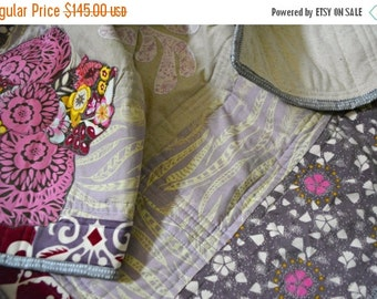 CHRISTMAS In JULY SALE Purple Baby Quilt - Crib Quilt - Anna Maria Horner Fabrics