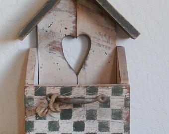 Vintage Shabby Bird House