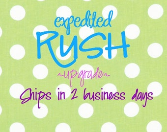 EXPEDITED RUSH ORDER Upgrade Only- add to cart