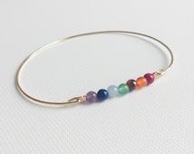 Yoga bracelet - Chakras bracelet - Meditation bracelet - Healing stones bracelet - Yoga jewelry - Chakra balancing healing bracelet energy