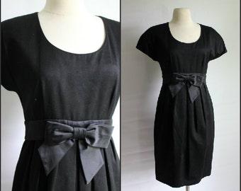 Classic, 1950s, 1960s, Wiggle Dress, Black Dress