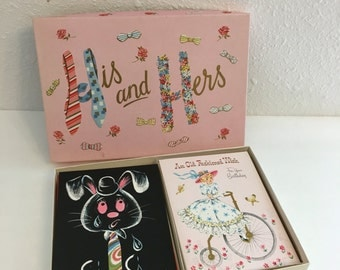 Vintage Stationery, Boxed Greeting Cards, Unused Vintage Stationery, His and Hers Cards, Vintage Occasion Cards