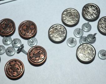 vintage buttons and tack