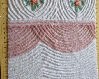Beautiful Vintage Chenille Bedspread Fabric piece