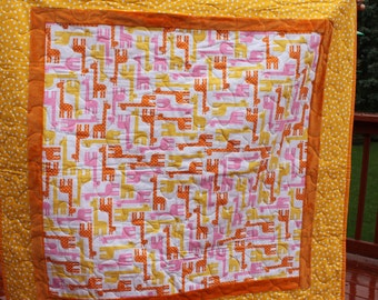 Jungle Giraffe - Handmade Baby Quilt