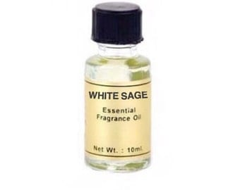 White Sage Oil - 10ml, Essential fragrance oil, Scent magick, Candle dressing, Annointing oil, Aromatherapy, Purification, Space cleansing