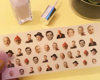 Bill Murray Nail Decals - pk40