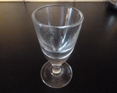 French Antique Absinthe Glass Blown Unpolished Pontil Circa 1905 Bistro Cafe Glasses ABO4