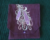 Elven Style Embroidered Belt Pouch /  Pouch / Fantasy Art