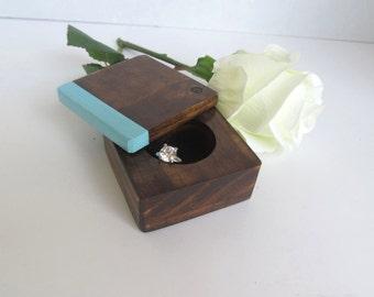Engagement Ring Box - Ring Holder - Proposal box  - ring bearer box - wood ring box - ring pillow alternative