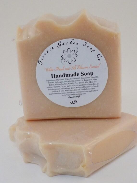 White Peach and Silk Cold Process Soap