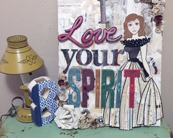 I Love Your Spirit Mixed Media