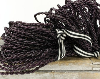 French Wired Beads 25 YARDS of Aubergine Colour Wired Beads...a Bargain!