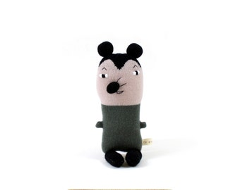 Willie Mouse - soft knitted toy