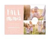 Photography Marketing board - Fall mini sessions - photoshop template - E1324