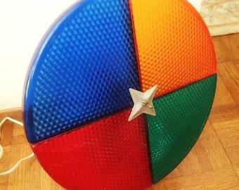 Vintage Color Wheel Penetray Rotating for Aluminum Christmas Tree Mod Mid Century