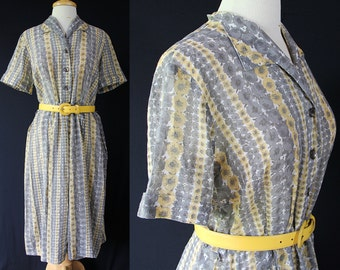 50s Martha Manning Day Dress Cotton Voile Plus Size