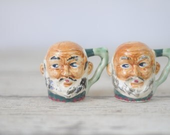 Vintage Salt And Pepper Shakers Hand Painted Toby Mug Japan Salt And Pepper Shaker