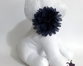Black Chiffon Flower Collar Accessory