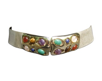 Judith Leiber Glass Cabochon Belt. 1980's.