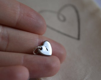 ADD ON - Hand Stamped Heart // Hand Stamped Heart Charm